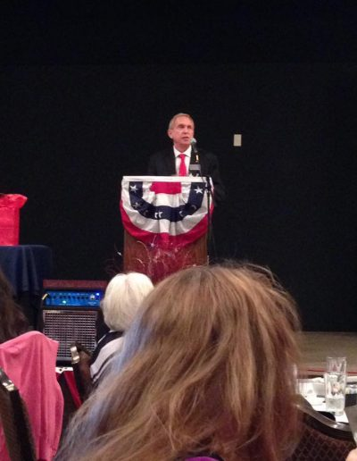 Dave Giles speaking at Mesa Republican Women Luncheon