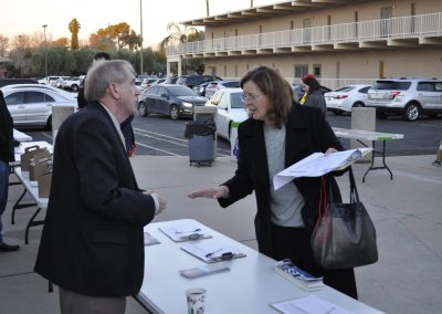 Collecting signatures to be on the ballot