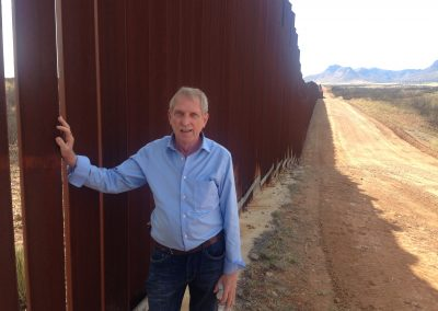 Dave Giles at the US Border with Mexico
