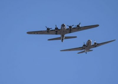 B17 & DC3 Fly Over